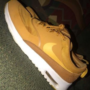 Mustard Nike Air Maxes